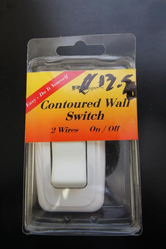 Contoured Wall Switch - White