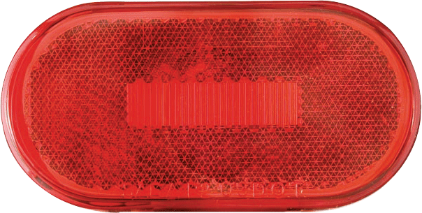 LED C/M 4 OVAL 6D RED REFLEX SRFC MT 3 CTR