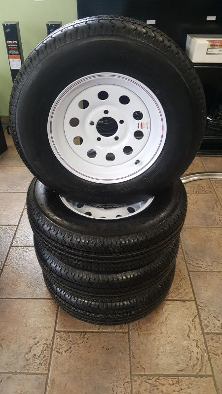 ST205/75R15 Radial Trailer Tire & White Rim