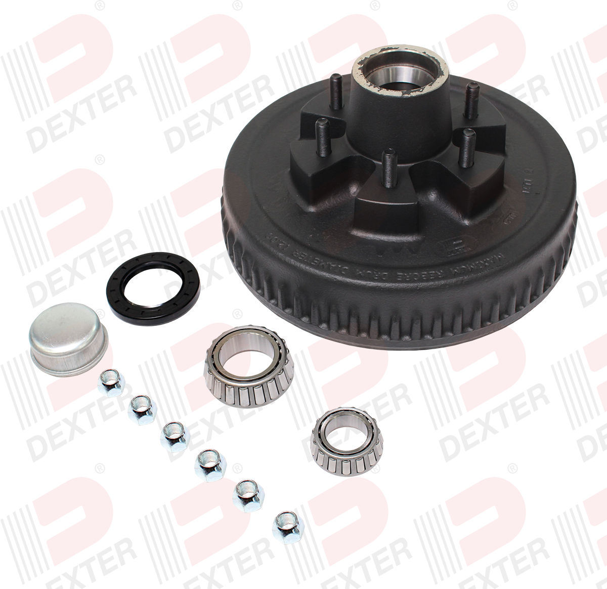 12 x 2 Hub & Drum 6 on 5-1/2 Bolt Pattern