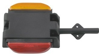 Clearance Marker Light FENDER MOUNT AMBER & RED