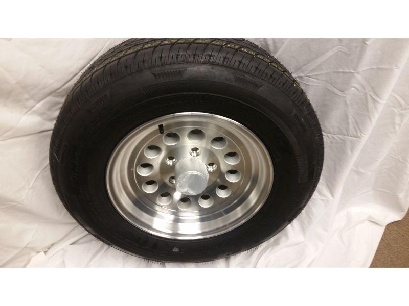 ST205/75/R15 Trailer Wheel/Radial Tire, 5 Lug Aluminum Mod Wheel