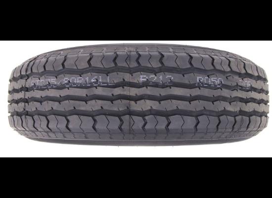 """Contender ST235/80R16 Radial Trailer Tire w/ 16"""" White Mod Wheel - 8 on 6-1/2 - Load Range E"""