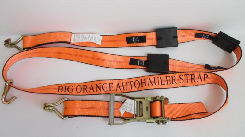 ORANGE TIRE STRAP BENT WIRE HOOK