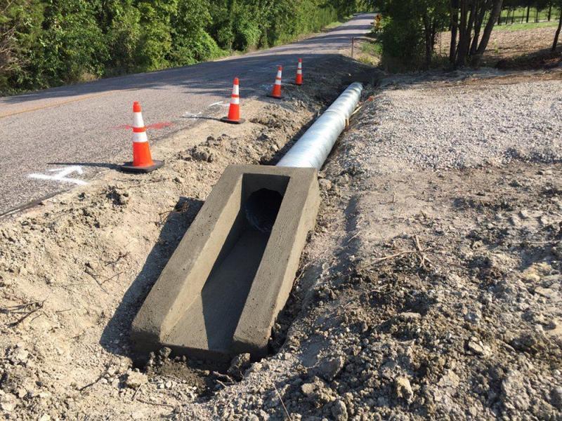 Galvanized Pipe Concrete End