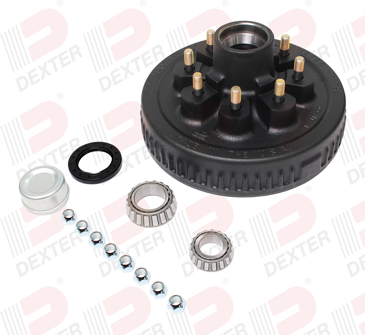 12 x 2 Hub & Drum 8 on 6-1/2 Bolt Pattern 9/16 inch stud