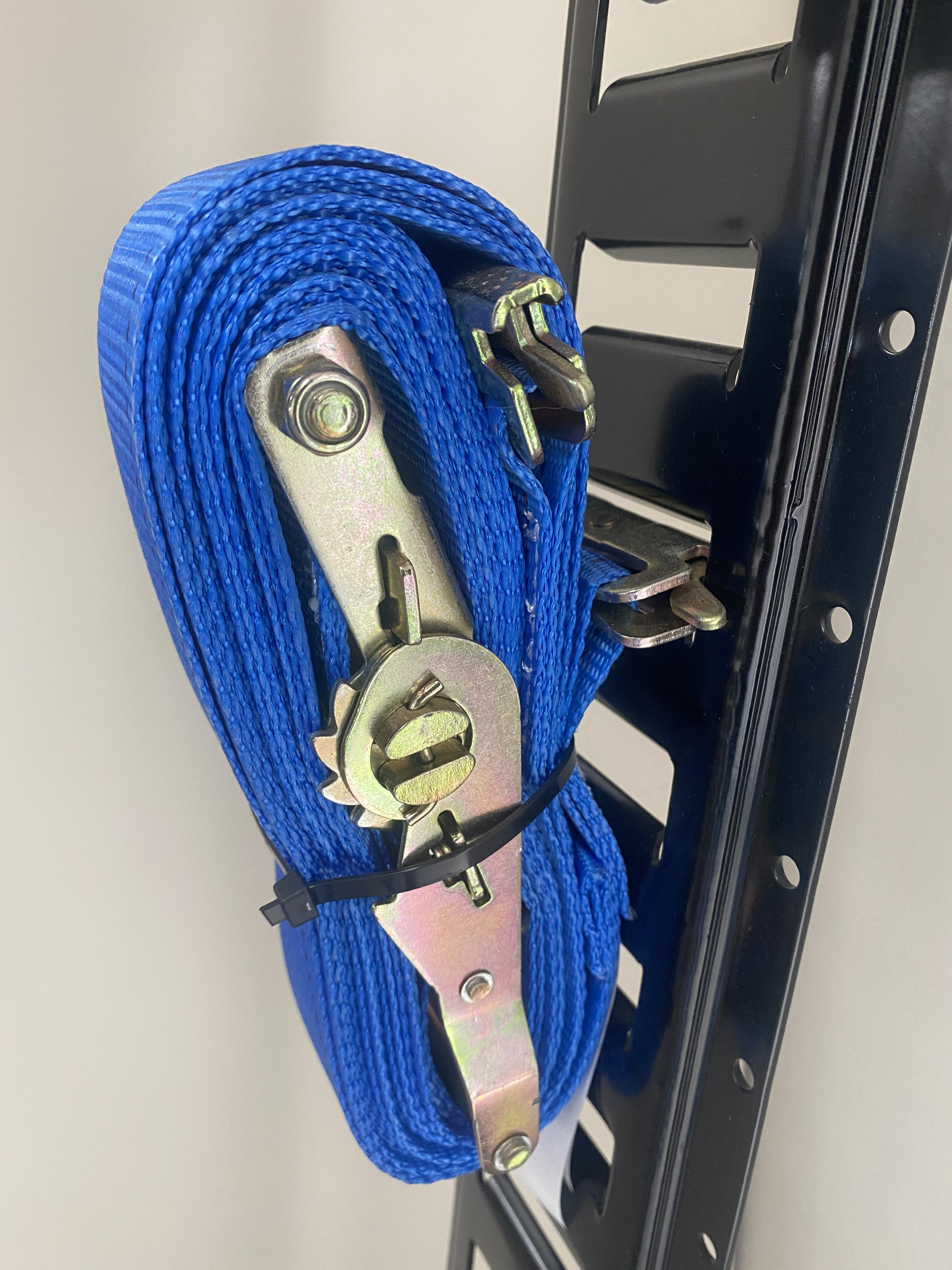 """Cargo Mall 2"""" x 20' Series E/A Ratchet Strap with Spring E Track Fittings"""
