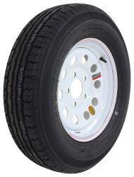 """Contender ST205/75R15 Radial Trailer Tire w/ 15"""" White Mod Wheel - 5 on 4.5 - Load Range C"""