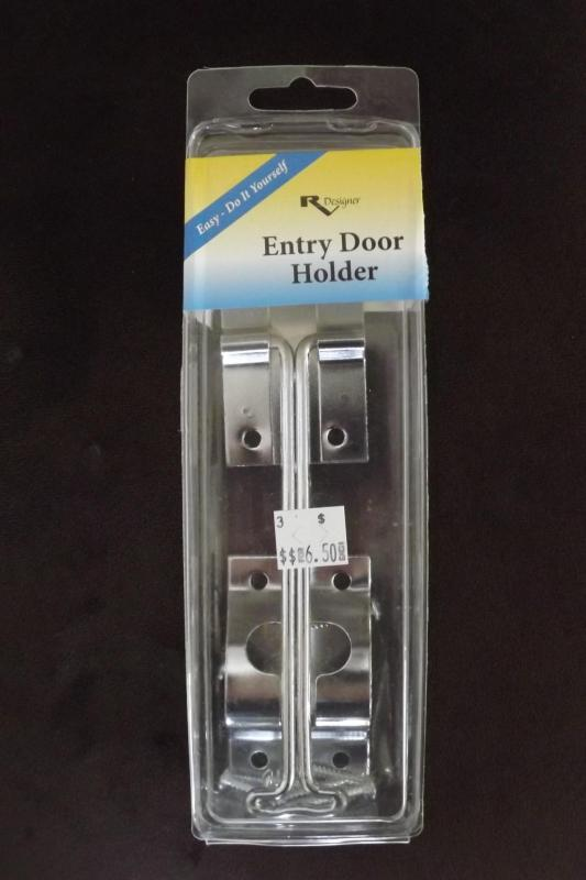 "Metal Entry Door Holder Zinc ""T"" 6"""