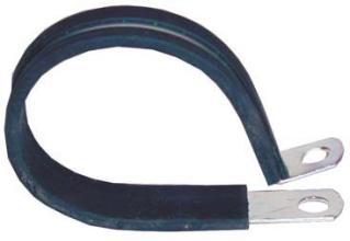 Wire Loom Clamps WIRE LOOM CLAMP METAL 1/4 PLTD STL W/ NEOPRENE CUSION TULSA OK @ HITCH IT TRAILERS