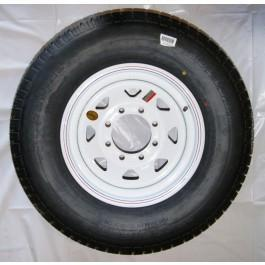 Tire & Wheel 235/80R16 on 865 White Spoke