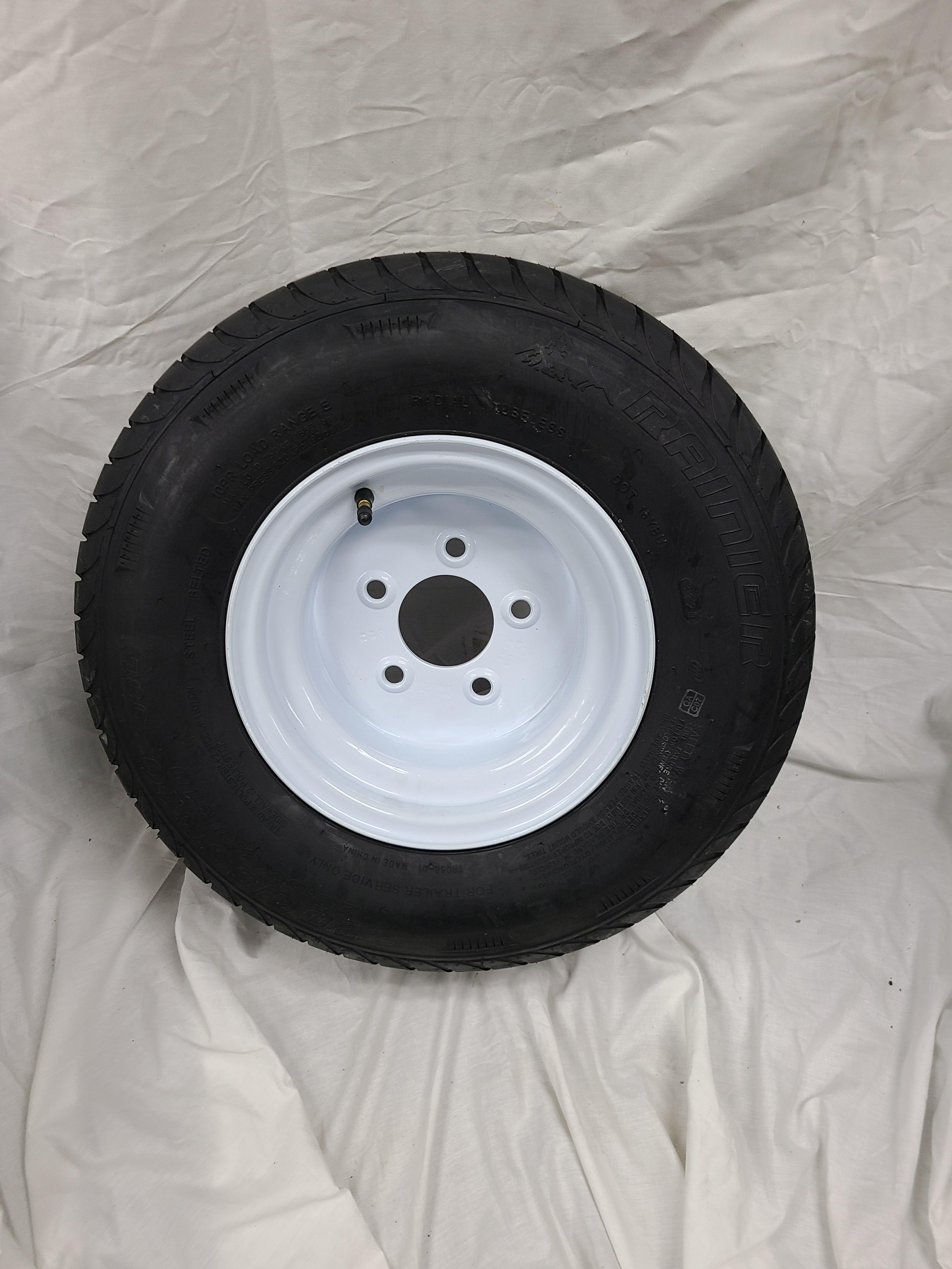 18.5X8.5X8 Trailer Wheel  5 Lug White Wheel