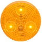 """LED Clearance Marker Light 2"""" ROUND AMBER"""