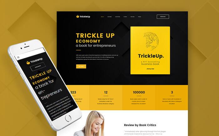 E-book Landing Page WordPress Theme
