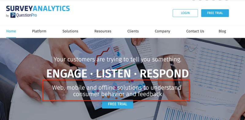 good website design shows a clear benefit