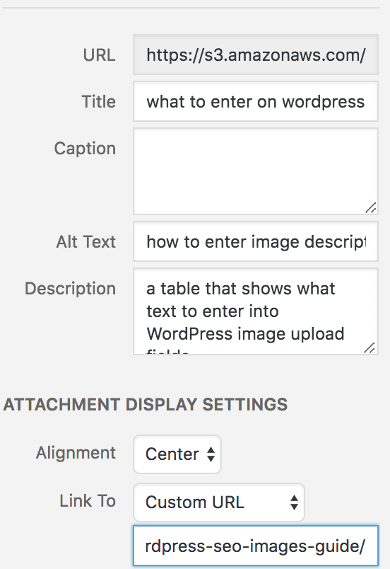 how to fill in image fields when you upload an image to wordpress