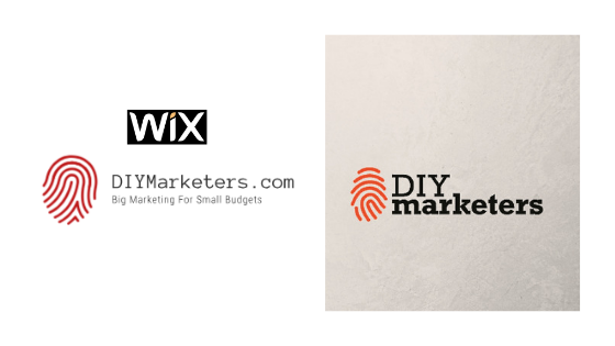 Example DIY Marketer Logos made with the Wix Logo Creator Tool