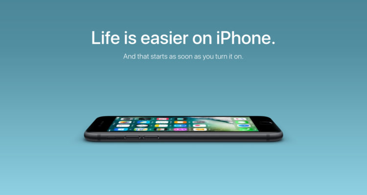 Life gets easier when start using an iPhone