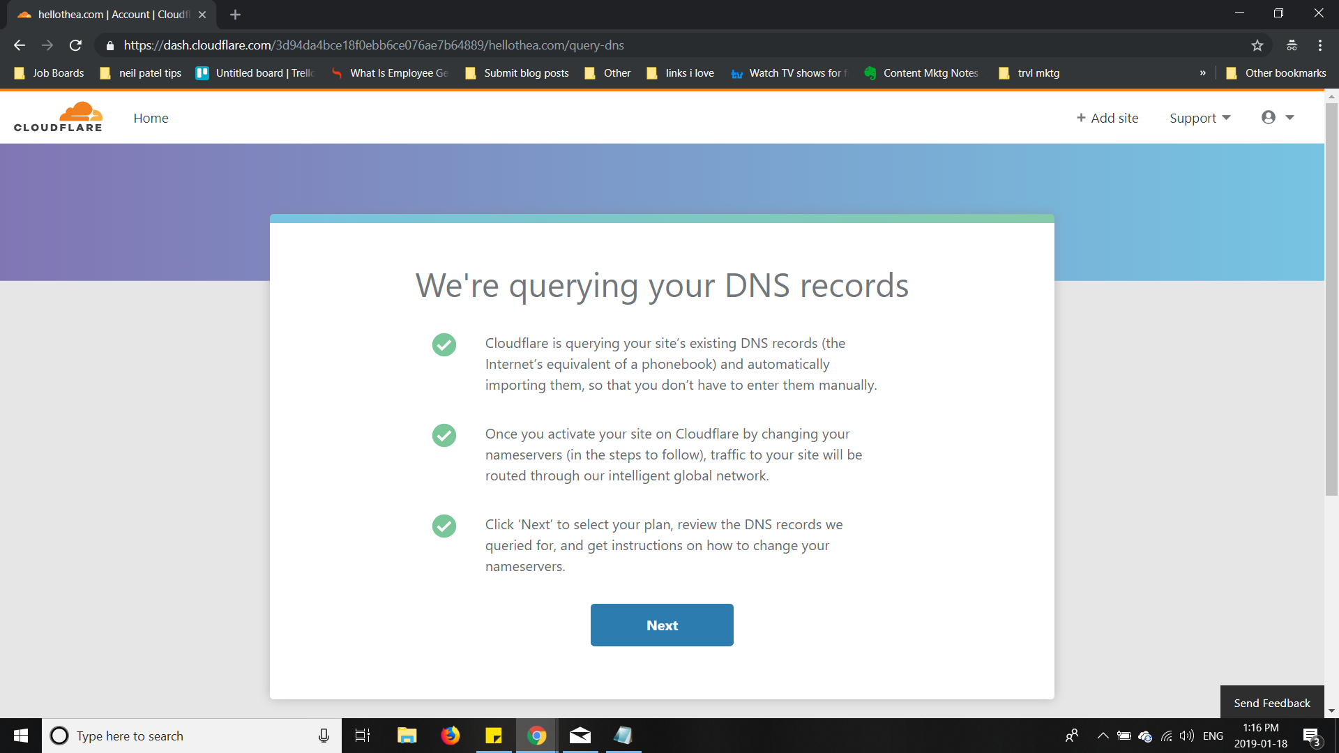 Cloudflare queries your DNS records
