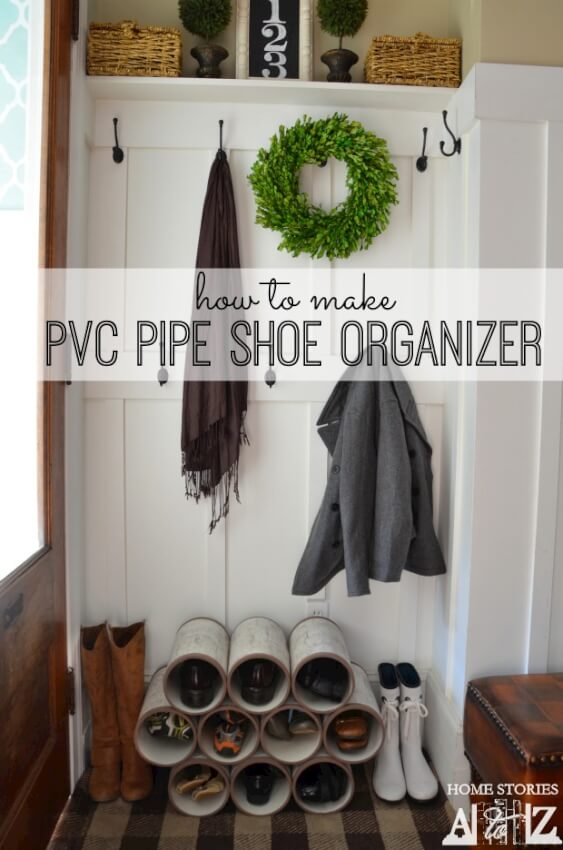 17 diy mudroom entryway storage ideas for very small spaces - Shoe organizer for small space paint ...