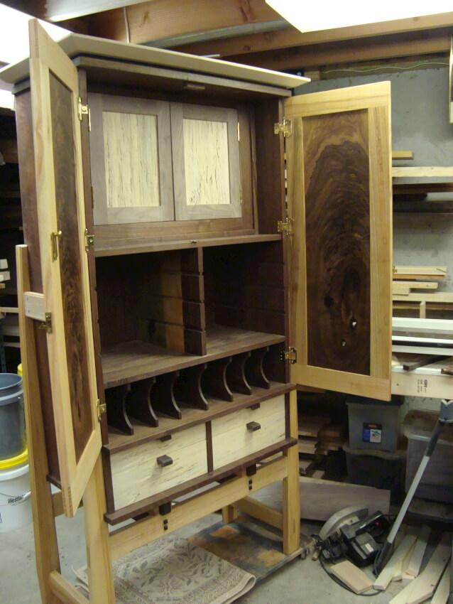 armoire power tool storage