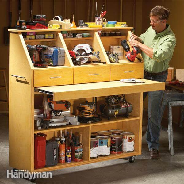 14 power tool storage ideas so you never lose them again. Black Bedroom Furniture Sets. Home Design Ideas