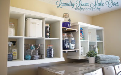 cube cubby laundry room storage makeover