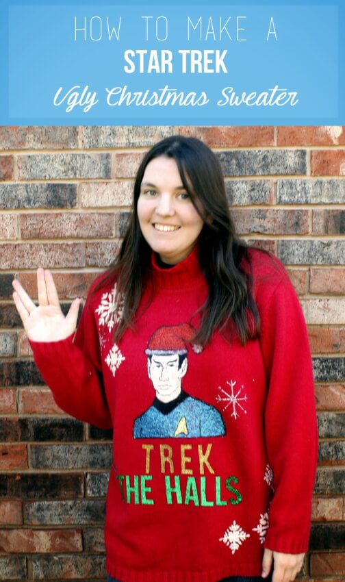 Every ugly sweater party needs a Star Trek ugly sweater.