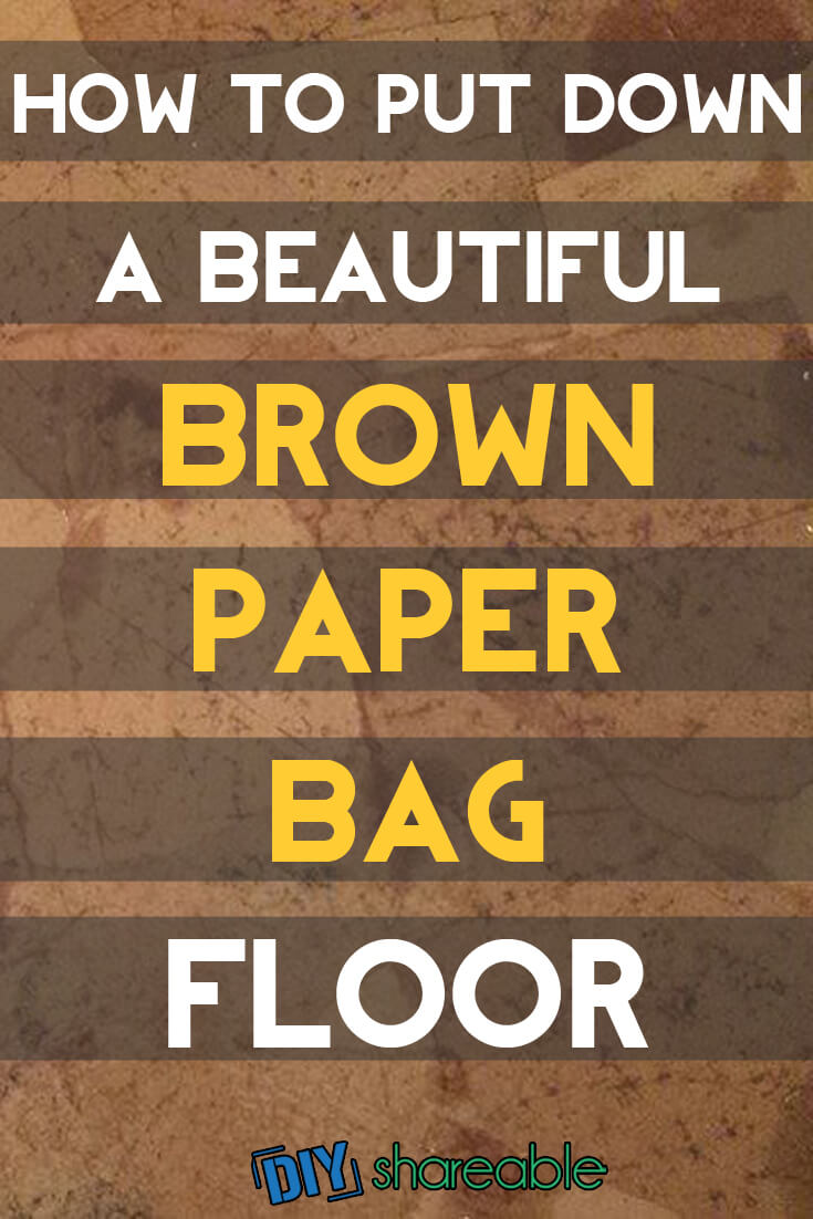 Looking for a flooring option that is durable & attractive but doesn't cost a fortune? DIY Brown paper bag floors create a very unique look with easy upkeep. Click here for full tutorial.