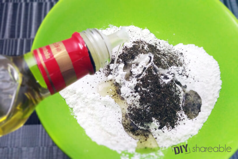 Adding olive oil or carrier oil to bath bomb recipe without citric acid