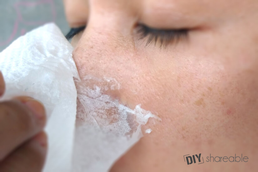 wash egg white mask off gently