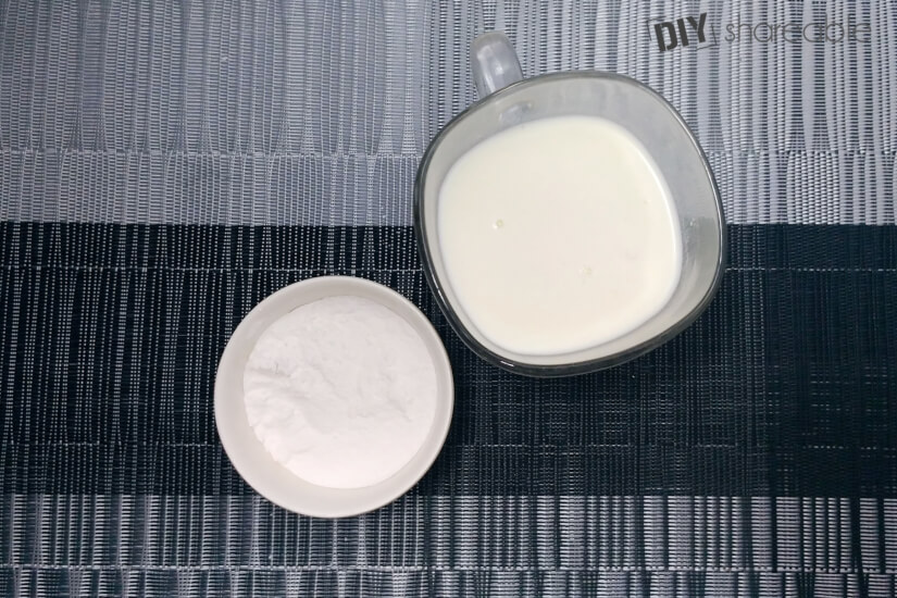 mask recipe using only baking soda and milk