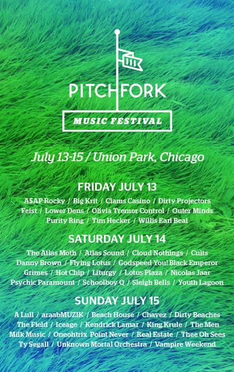 Pitchfork lineup