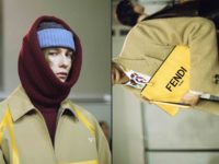 Shape-shifting outerwear and chameleon color at Fendi