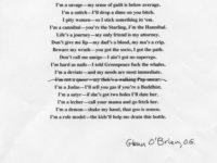 'The O.G.': A Poem by Glenn O'Brien