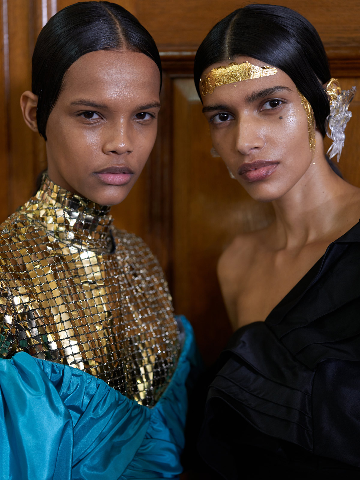 Backstage and close-up at London Fashion Week, with photographer Peter Lowe