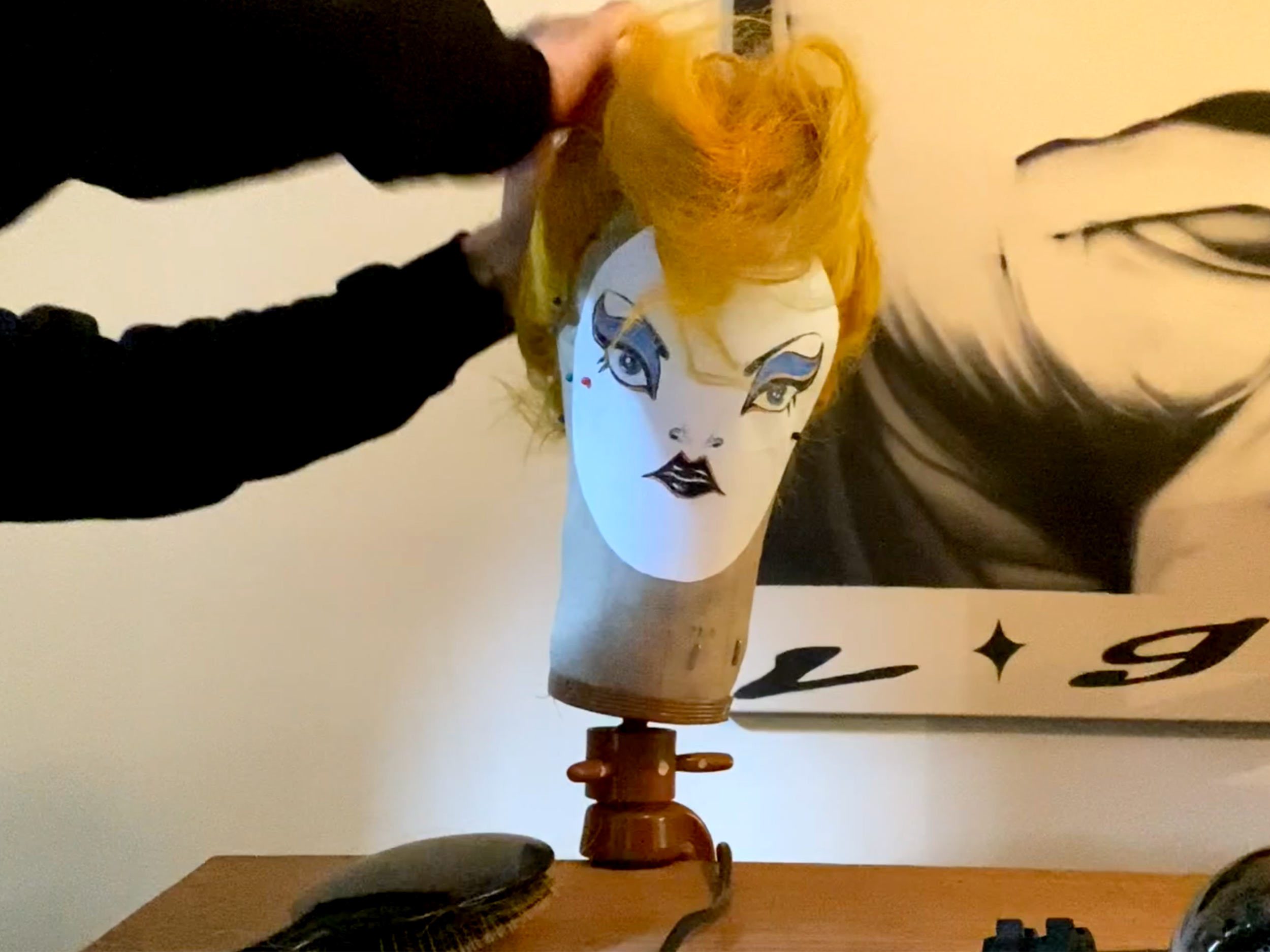 Watch Anthony Turner give a sad wig a '70s New Romantic makeover