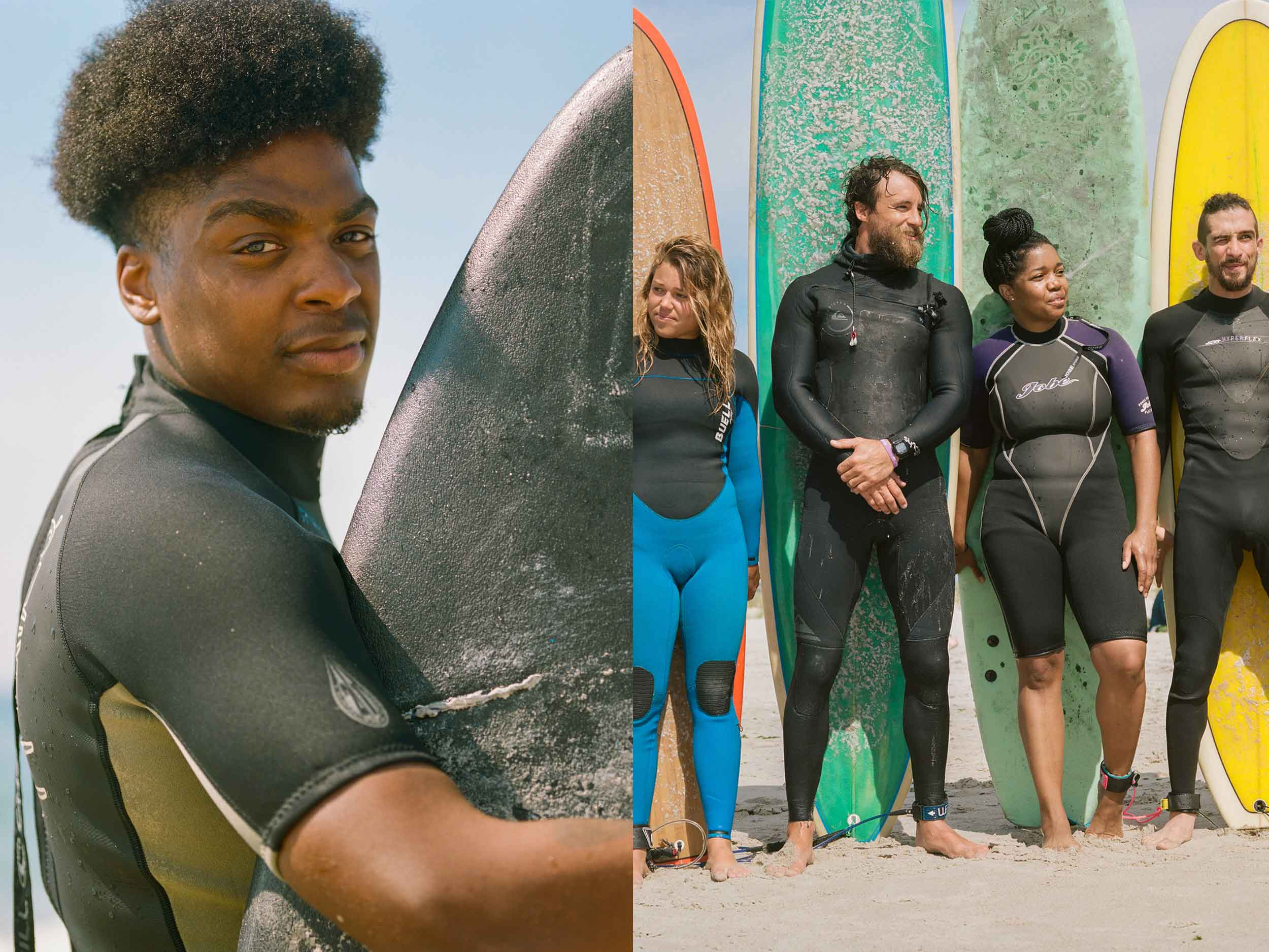 Led by the Black Surf Association, hundreds of surfers paid tribute to victims of police violence