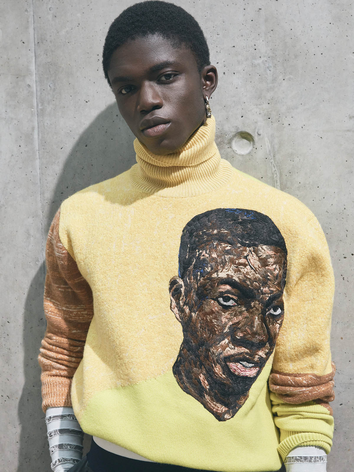 Kim Jones translates Amoako Boafo's paintings into wearable art