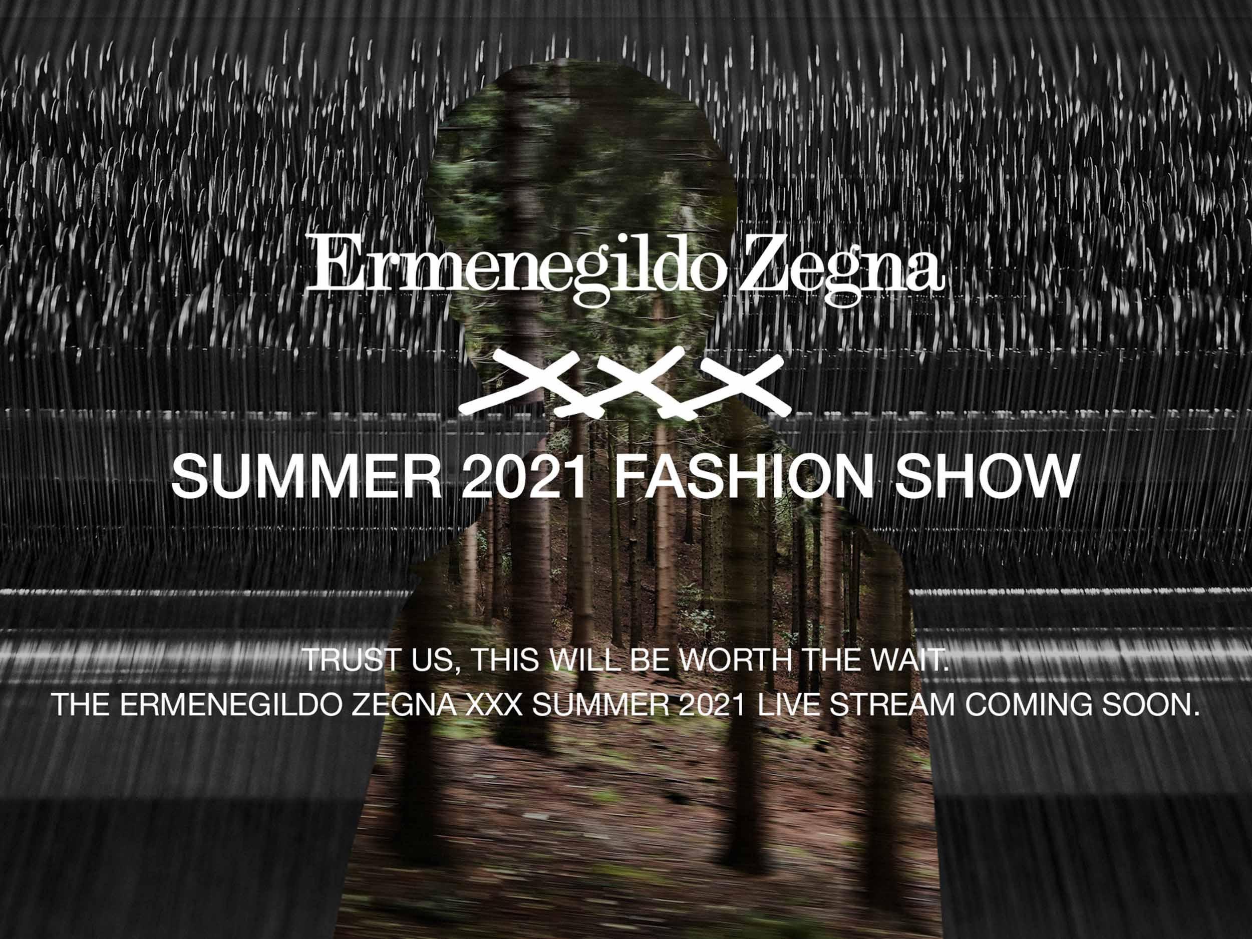 Watch live: Ermenegildo Zegna XXX Spring/Summer 2021 presentation