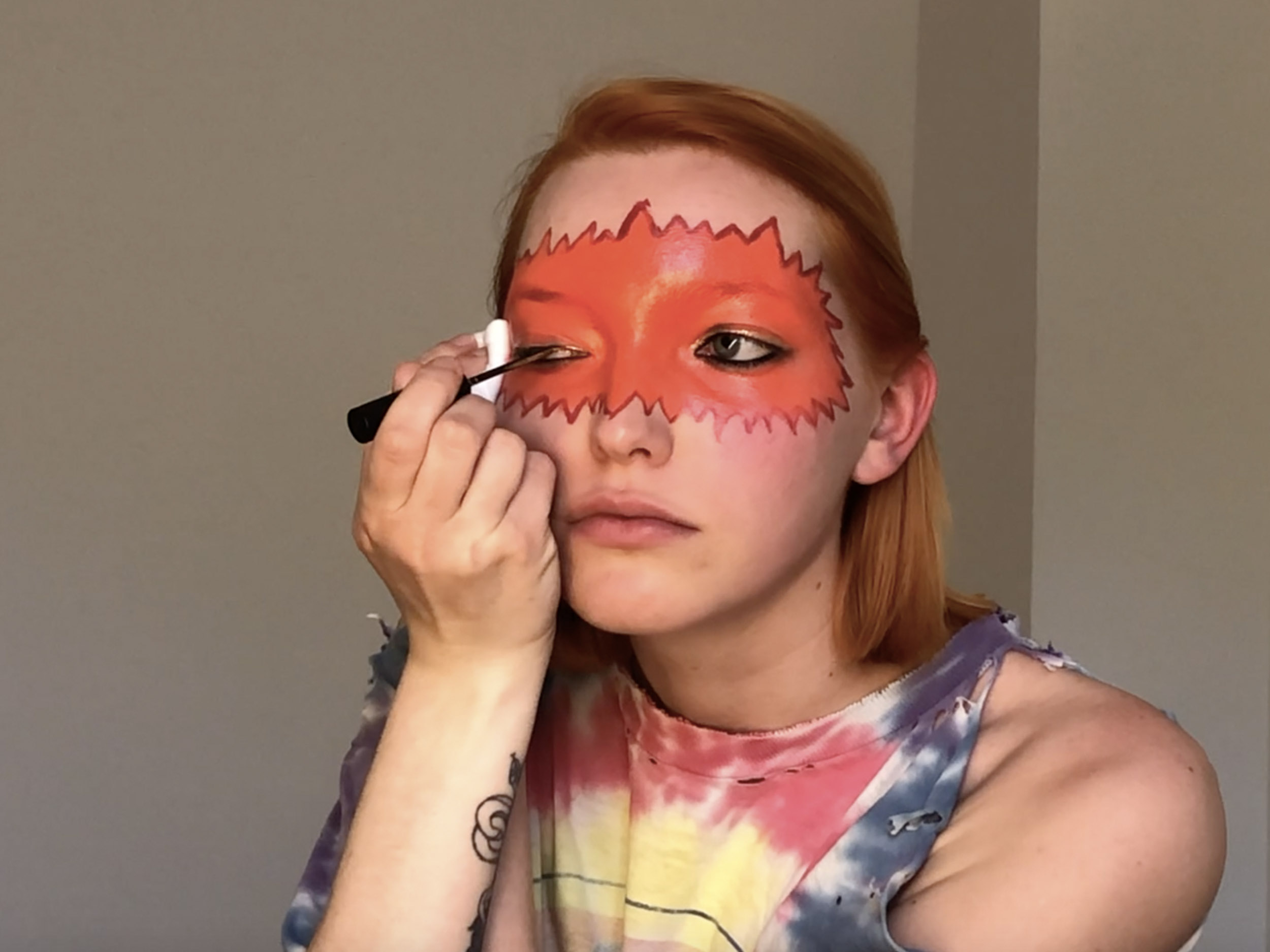 Ajsa Movic's fiery Toyah Willcox look is perfect for Leo season