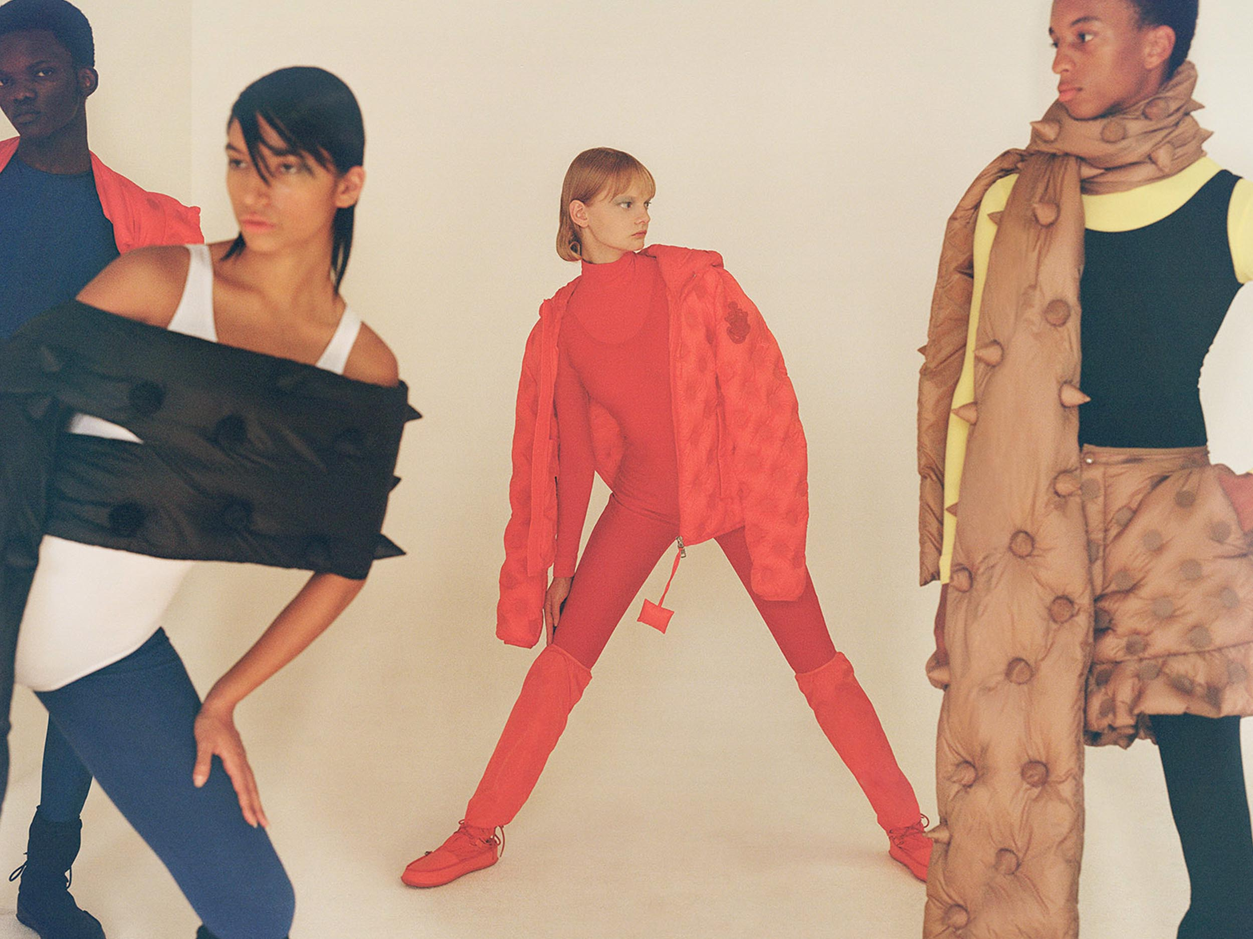 Document captures 1 Moncler JW Anderson as a Bauhaus wonderland