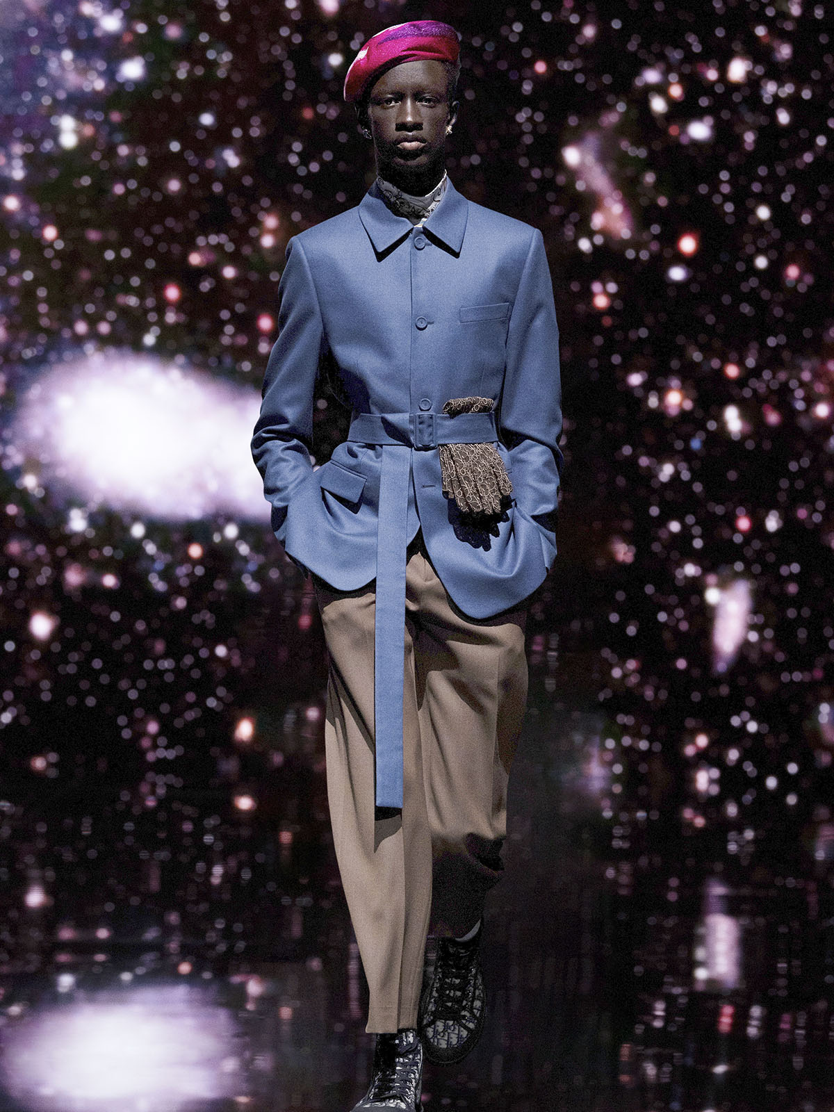 Dior's latest men's collection is a cosmic collaboration with artist Kenny Scharf