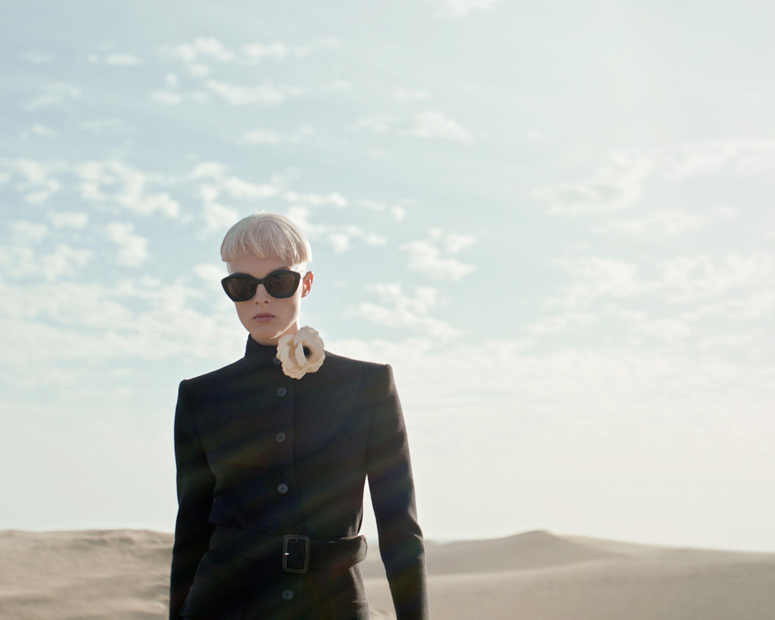 Saint Laurent turns a mysterious desert into a runway