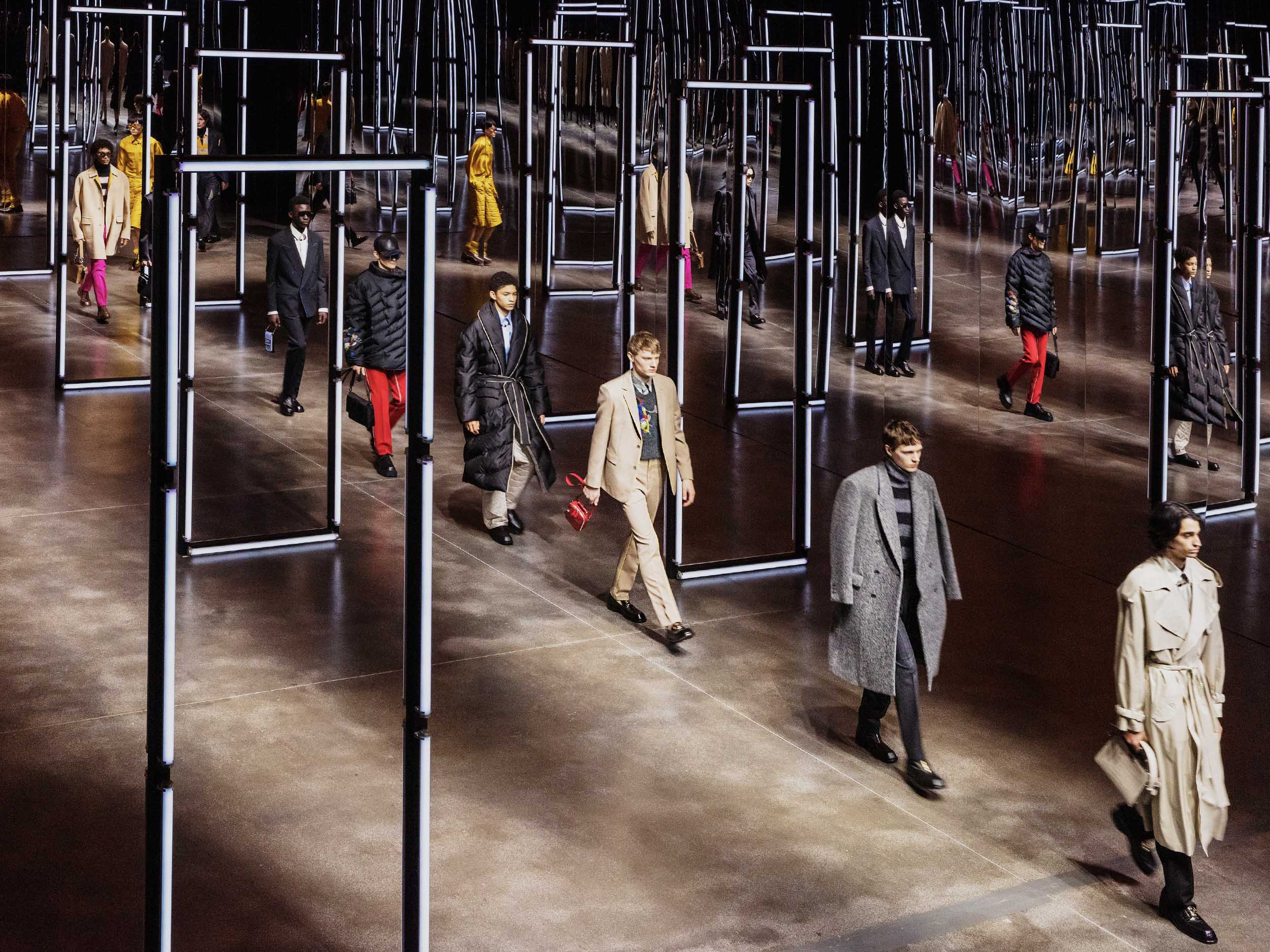 Fendi's Fall/Winter menswear collection rethinks comfort in crisis