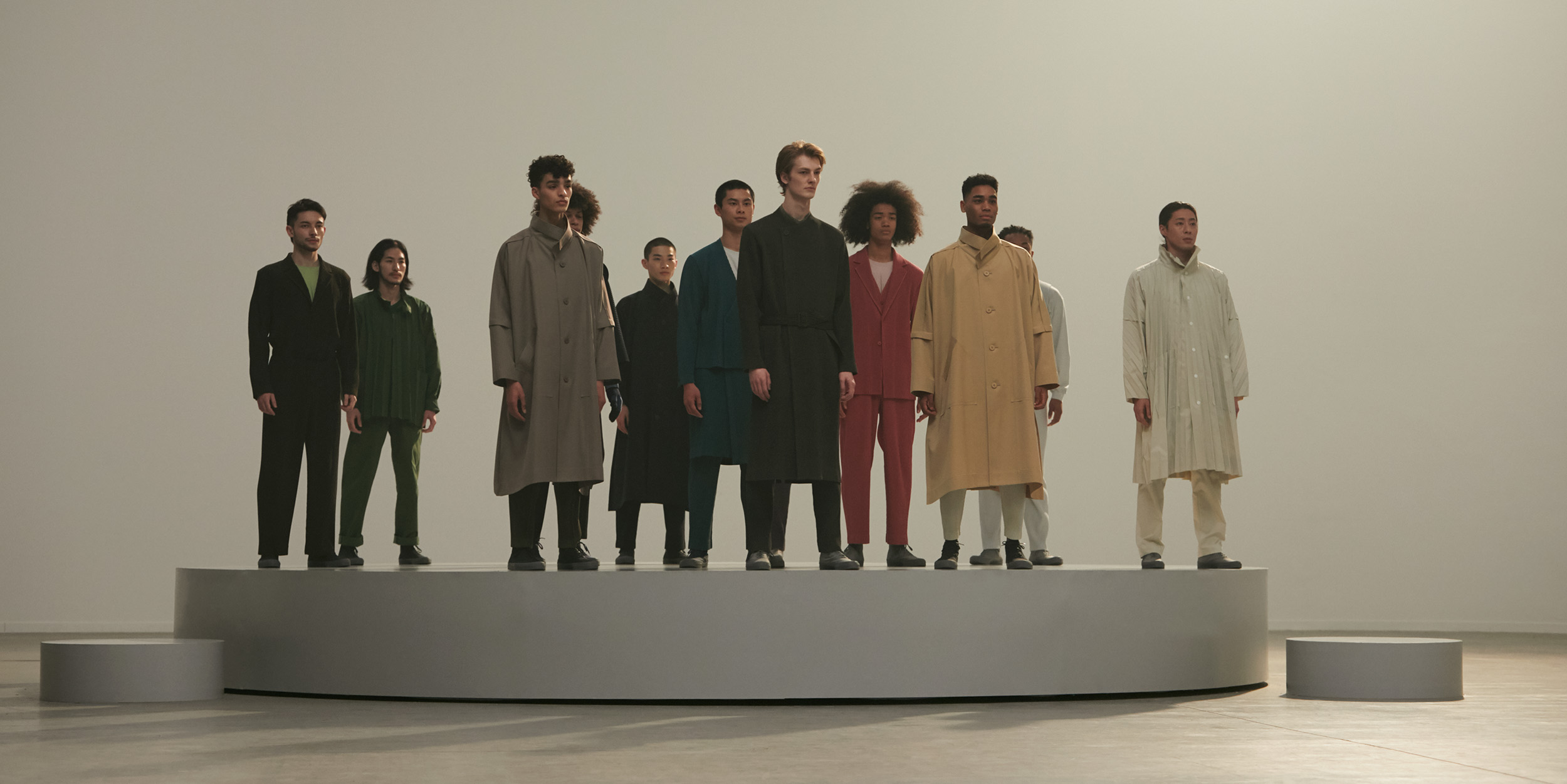 The perfect pleat: Homme Plissé Issey Miyake's latest presentation finds freedom in the folds