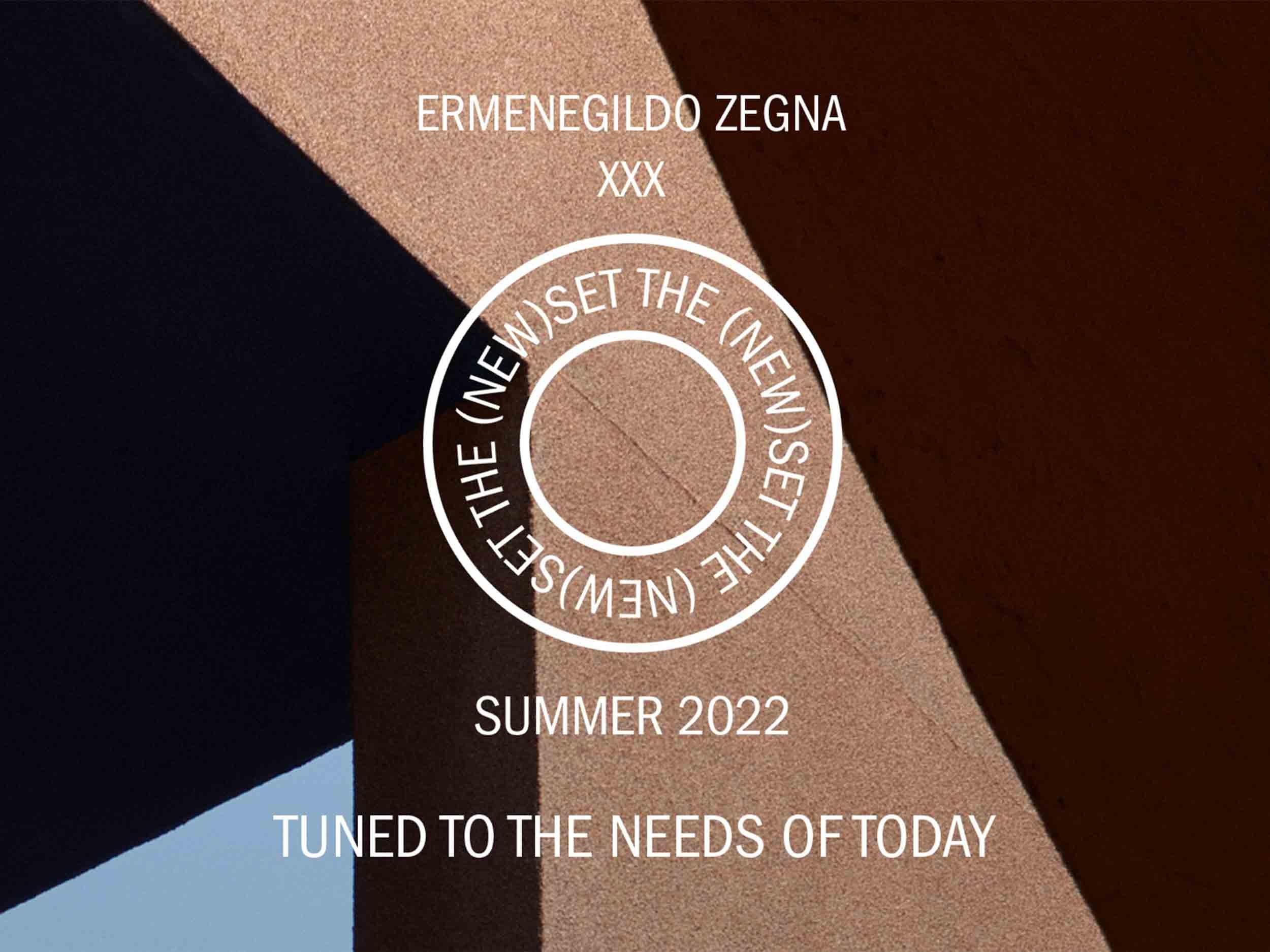 Livestream Ermenegildo Zegna XXX Spring/Summer 2022 collection here
