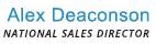 Email Alex Deaconson our Nation Sales Director
