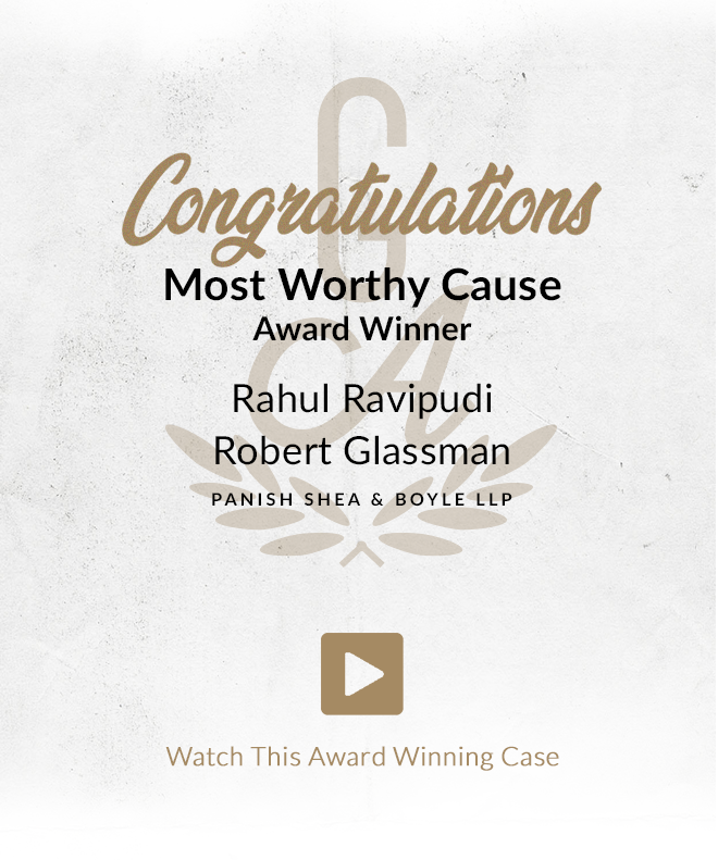 Congratulations Most Worthy Cause Award Winners Rahul Ravipudi and Robert Glassman