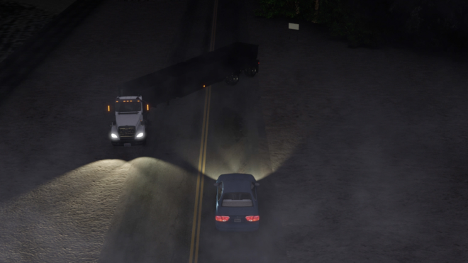 Nearly Invisible Semi-Truck Causes Crash